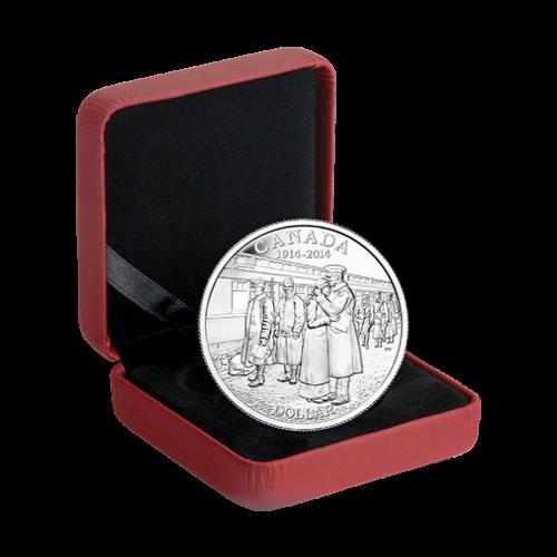 Silbermünze - 100. Jahrestag der Kriegserklärung des ersten Weltkriegs - 2014