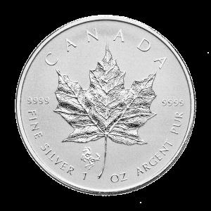 1 oz Silbermünze - kanadisches Ahornblatt - Jahr des Pferdes Sonderprägezeichen 2014