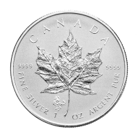 1 oz 2014 Canadian Maple Leaf Year of the Horse Privy Silver Coin