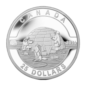 1 oz 2014 O Canada Series - Igloo Silver Coin