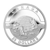Moneta in argento 1 oz 2014 O Canada Serie - Igloo