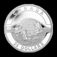 1 oz Silbermünze - O Kanada Serie - Iglu - 2014