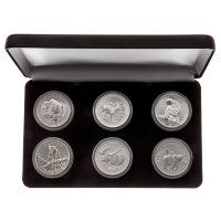 6 x 1盎司加拿大野生动物系列银币套