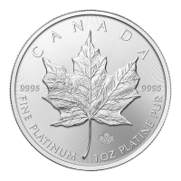 Pièce de platine Maple Leaf canadienne 2015 de 1 once