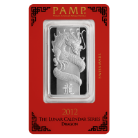 1 oz 2012 PAMP Suisse Year of the Dragon Silver Bar