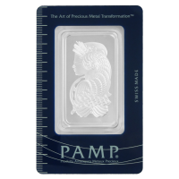 1 oz dünner PAMP Suisse Silberbarren - Göttin Fortuna