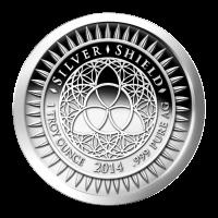 1 oz Silbermedaille - Silvester - 2014 Zustand: Spiegelglanz