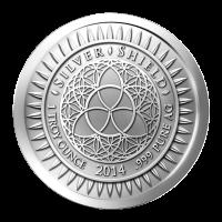 1 oz Silbermedaille - Silvester - 2014