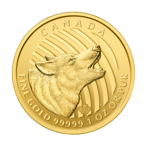 1 oz 2014 Call of the Wild Series | Howling Wolf Gold Coin