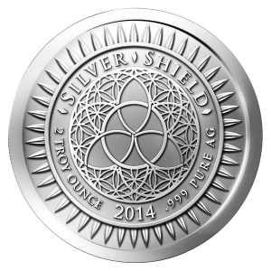 2 oz 2014 New Year's Silver Round