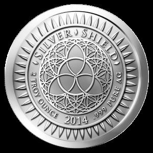 2 oz Silbermedaille - Silvester - 2014