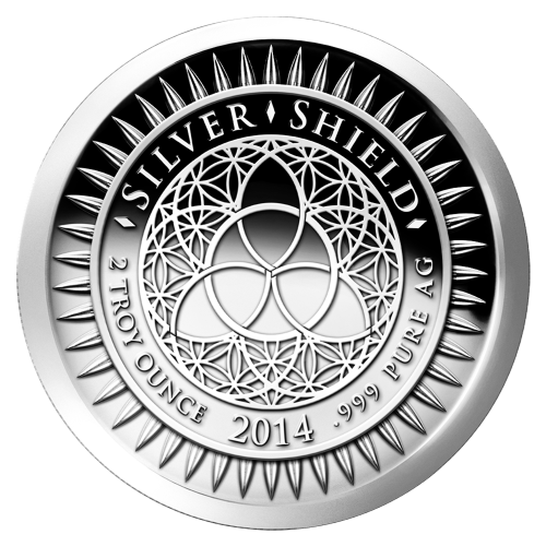2 oz 2014 New Year's Silver Proof-like Round