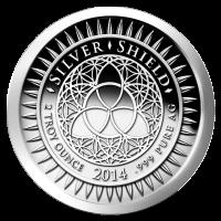 2 oz Silbermedaille - Silvester - 2014 - Zustand: Spiegelglanz