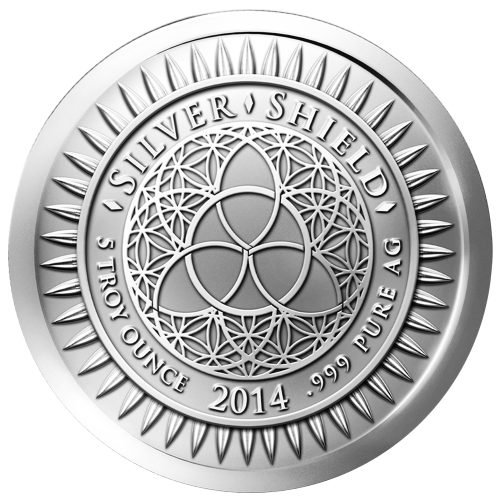 5 oz 2014 New Year's Silver Round