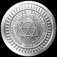 5 oz Silbermedaille - Silvester - 2014