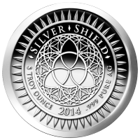 5 oz 2014 New Year's Silver Proof-like Round