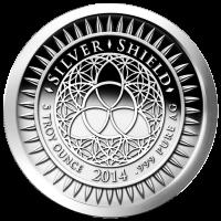 Disco in argento proof-like 5 oz 2014 Anno Nuovo