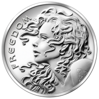 5 oz 2014 Freedom Girl Silver Round