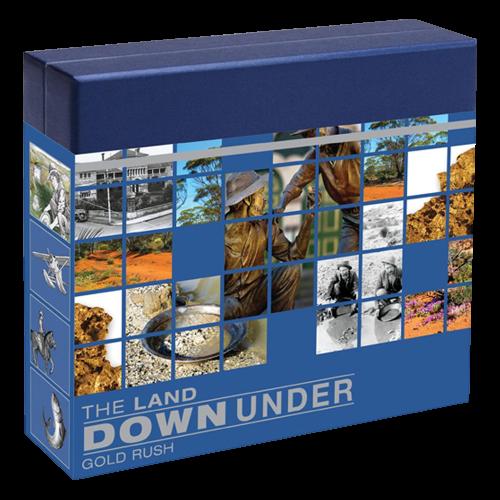 """1 oz australische Silbermünze """"Land Down Under"""" Serie - Goldrausch - farbig 2014"""