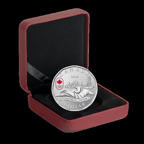 1/4 oz kanadische Eindollar-Silbermünze - Glücksbringer - 2014