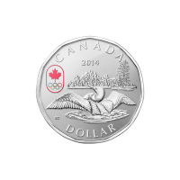Moneta in argento 1/4 oz 2014 Canada Lucky Loonie