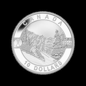 Stříbrná mince Kanadské sjezdovky 2014, Kanadská série O, 1/2 oz