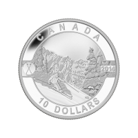 1/2 oz 2014 O Canada Series - Skiing Canada's Slopes Silver Coin