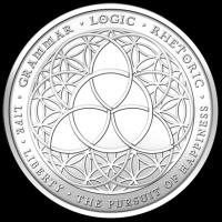 5 oz Silbermedaille - Trivium Silvester - 2014 Fehlprägung