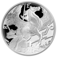 10 oz 2013 Pegasus Zilveren Proof Plak