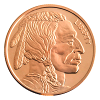 1 oz CNT Buffalo Copper Round
