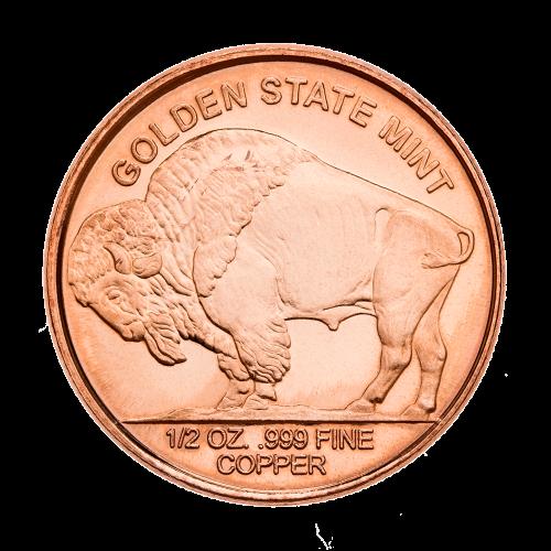 Büffel - Gewicht - Reinheit - Kupfer - Golden State Prägeanstalt