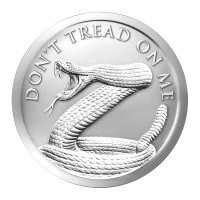 1 ounce 2014 Don't Tread on Me sølvrunde