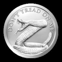 1 oz Silbermedaille - Don't Tread on Me (Tritt nicht auf mich) - 2014
