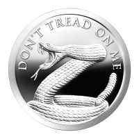 1 oz 2014 Don't Tread on Me Zilveren Proof-like Plak