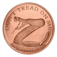 Ronda de Cobre No me Pises (Don't Tread on Me) 2014 de 1 oz