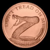 1 oz Kupfermedaille - Tritt nicht auf mich - 2014