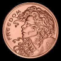1 oz Kupfermedaille - Freiheitsmädchen - 2014