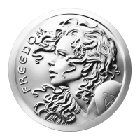 1 oz 2014 Freedom Girl Zilveren Plak