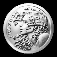 1 oz Silbermedaille - Freiheitsmädchen - 2014
