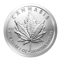 Moneda de plata Cannabis 2014 1 oz