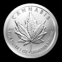 Ronde d'argent Cannabis 2014 de 1 once