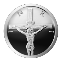 Ronda de Plata como Proof Crucifixión 2014 de 1 oz