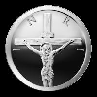 1 oz Silbermedaille - Kreuzigung - 2014 Zustand: Spiegelglanz