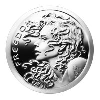 1oz 2014 Freedom Girl Silver Proof-like Round