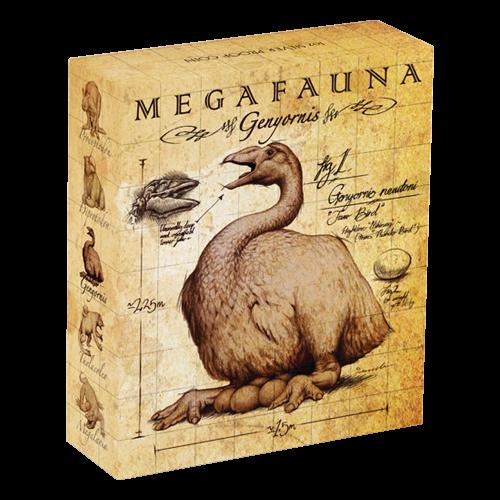1 oz Silbermünze - Megafauna Serie Genyornis Donnervogel - 2014 limitiert