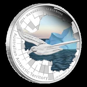 Série Territoire antarctique australien 2014 de 1 once –Pièce d'argent de qualité Belle Epreuve (BE) numismatique Albatros hurleur