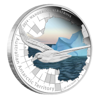 Moneta in argento proof 1 oz 2014 Serie Territori australiani antartici - Albatro urlatore