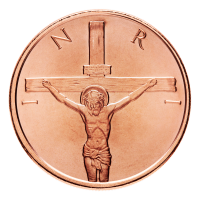1 oz Kupfermedaille - Kreuzigung - 2014