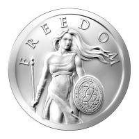 Disco in argento 1 oz 2014 Standing Freedom