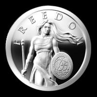 1 oz Silbermedaille - Freiheit stehend - 2014 Zustand: Spiegelglanz